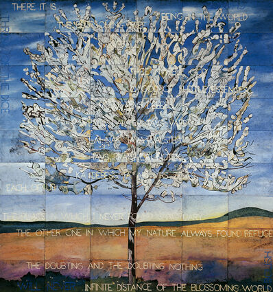 Imants Tillers, 'The Blossoming Tree', 2017