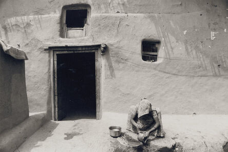 Gianni Berengo Gardin, 'A Woman in Front of a Stuccoed House in the Village of Rangwasa', 1977-79