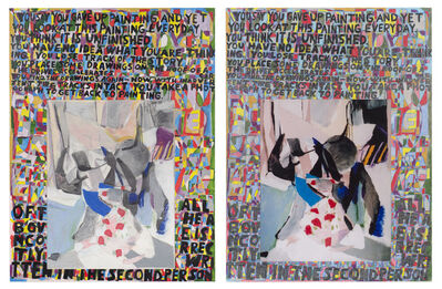 Anthony Campuzano, 'Everything I Learned I Learned Twice (diptych)', 2006