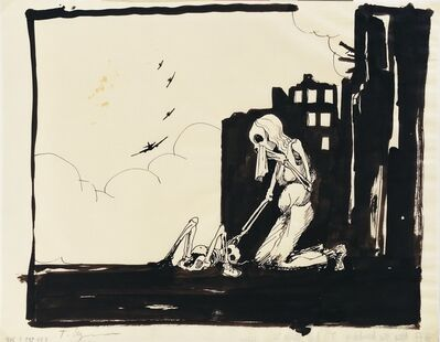 Tomi Ungerer, 'Untited (After the Bombing)', c. 1980