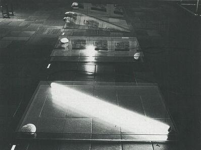 Keiji Uematsu, 'One glass plate-Two stones', 1977
