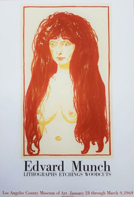 Edvard Munch, 'LACMA (The Sin)', 1969