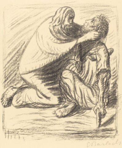Ernst Barlach, 'Blessed are the Merciful', published 1916