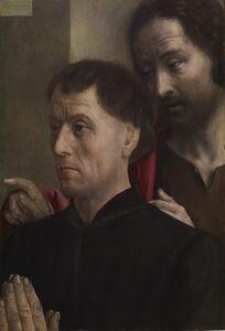 Hugo van der Goes, 'Portrait of a Man at Prayer with Saint John the Baptist', ca. 1475