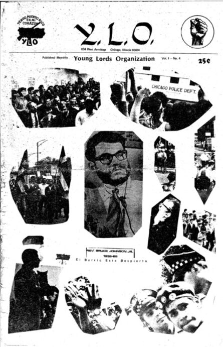Young Lords Party, 'Y.L.O. newspaper , v.1, cover'