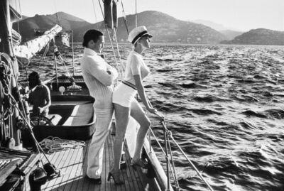 Helmut Newton, 'Winnie on Deck', 1975