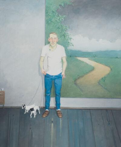 Rodrigo Cunha, 'Homem com Parelha de Cães [Man with Pair of Dogs]', 2013