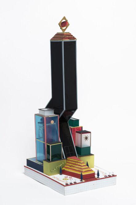 Bodys Isek Kingelez, 'Black Tower', 2000