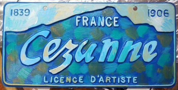 Greg Constantine, 'Cezanne Artist License Plate', 1980-1989