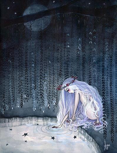 "June Leeloo, '""I'm half sick of shadows""', 2018"