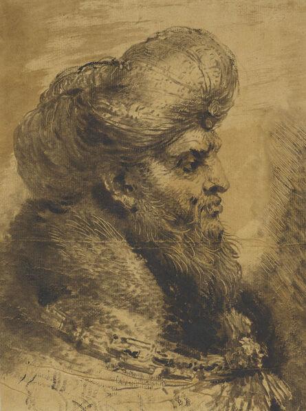 Giovanni Benedetto Castiglione, 'The head of an oriental', ca. 1645-50