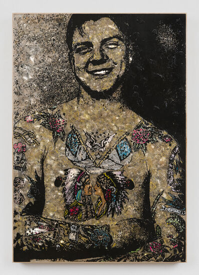 Jane Hammond, 'Tattooed Man', 2017