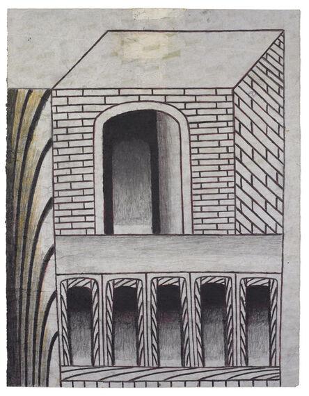 Martín Ramírez, 'Untitled (Brick Structure with Arches)', ca. 1960