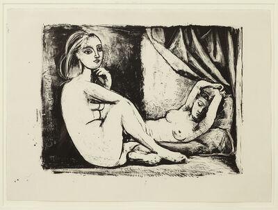 Pablo Picasso, 'Les Deux Femmes nues, State 3 (ii), November 1945', 1945
