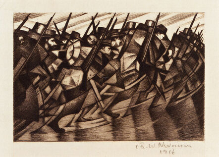 Christopher Richard Wynne Nevinson, 'Returning to the Trenches', 1916
