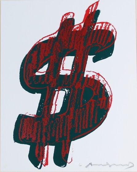 Andy Warhol, 'Dollar Sign, Red (FS II.278)', 1982