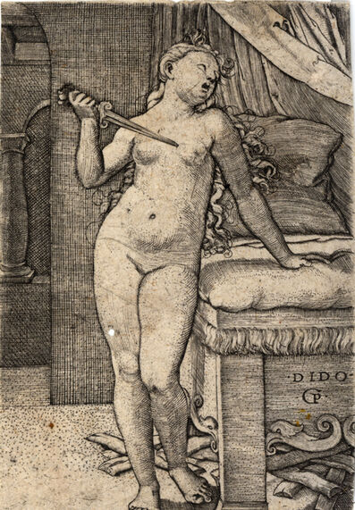 Georg Pencz, 'Dido Committing Suicide', ca. 1500