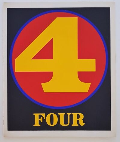 """Robert Indiana, 'Numbers Suite: """"Four""""', 1968"""