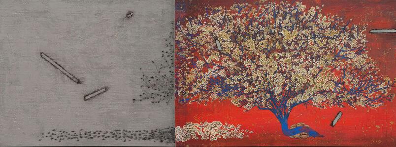 G R Iranna, 'The ash becomes a cherry blossom', 2020