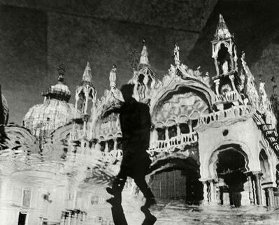 """Herbert List, '""""Reflections of St. Marco"""". Venice, Italy.', 1953"""