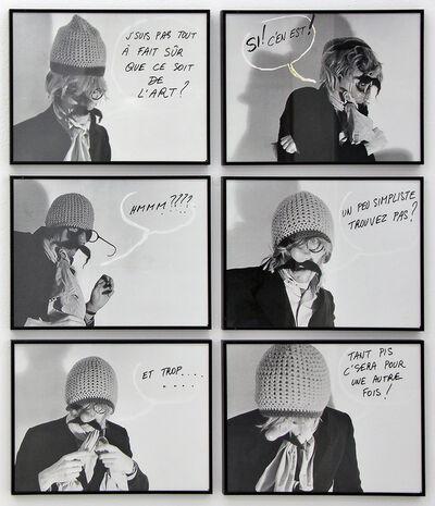 Jacques Charlier, 'Sûr de l'Art', 1974