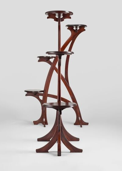 Gustave Serrurier-Bovy, 'Pair of large stands', 1901