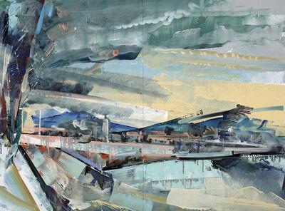 David Brewster, 'Naples Sky, Striped Hills', 2015