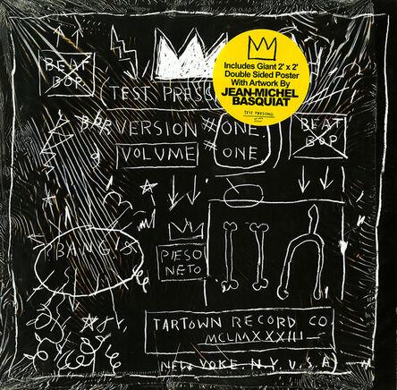 Jean-Michel Basquiat, 'Basquiat Beat Bop record art and poster (Basquiat album art) ', ca. 2005