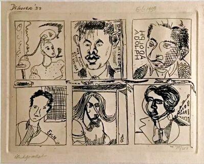 Adolph Gottlieb, 'Collaborative Etching: David Smith, Dorothy Dehner, Adolph Gottlieb, Edgar Levy, Lucille Corcos and Esther Gottlieb', 1933-1974