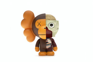 KAWS, 'Bape Dissected Baby Milo Vinyl Figure (brown)', 2011