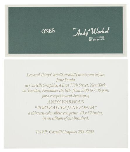 Andy Warhol, 'Art Cash (Ones)', 1971