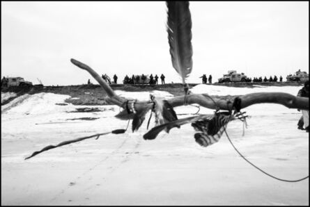 Larry Towell, 'Water Protectors protesters on the frozen Cannonball River. North Dakota, USA.', 2017