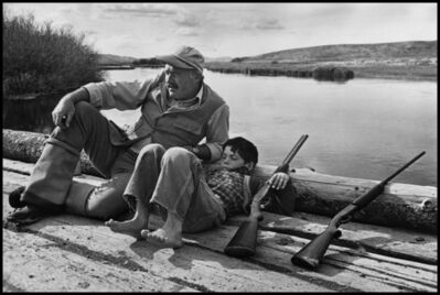 Robert Capa, 'American writer Ernest Hemingway with his son Gregory. Sun Valley, Idaho. USA. ', 1941
