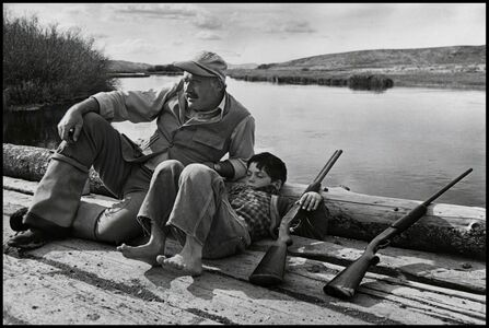 Robert Capa, 'American writer Ernest Hemingway with his son Gregory. Sun Valley, Idaho. USA. ', 1941