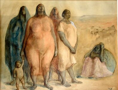 Francisco Zúñiga, 'Las Tres Generaciones', 1968