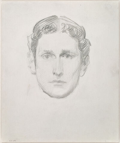 John Singer Sargent, 'Head of a Young Man', Late 19th century