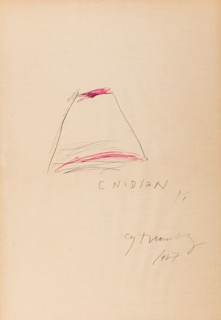 Cy Twombly, 'Cnidian', 1967