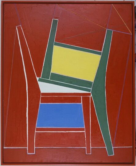 Mao Xuhui 毛旭辉, 'Two chairs in red background', 2011