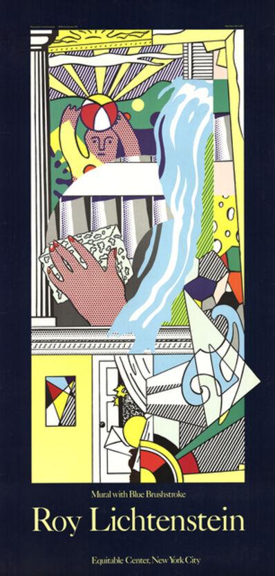 Roy Lichtenstein, 'Mural with Blue Brushstroke', 1984