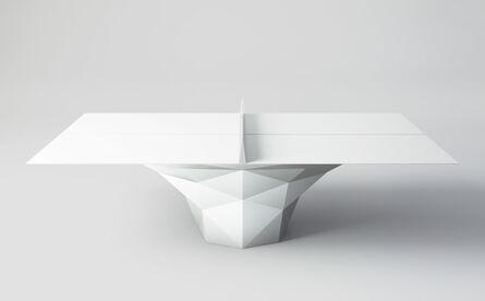"Janne Kyttanen, '""Deceptor"" Ping Pong Table Tennis Table Powder-Coated in White', 2014"