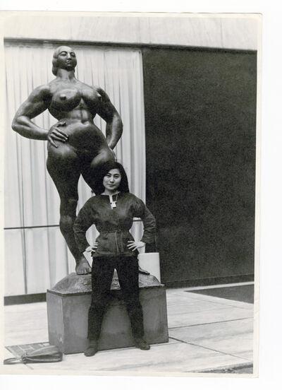 Minoru Niizuma, 'Yoko Ono with Standing Woman (1932) by Gaston Lachaise, The Museum of Modern Art Sculpture Garden, New York. c. 1960–61.', 1960-1961