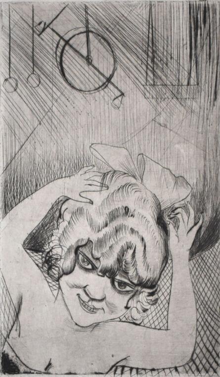 Otto Dix, 'Lili, Queen of the Sky, from: Circus   Lili, die Königin der Luft, aus: Zirkus', 1922