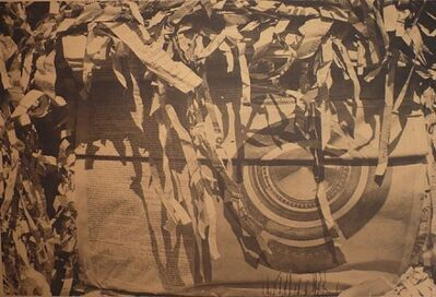 Dennis Hopper, 'Unknown (Tire with Paper Shreds)Goldtone', 1964