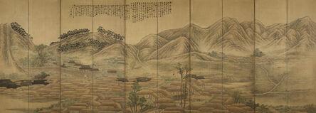 Jung-sik An, 'View of Yeonggwang Town', 1915