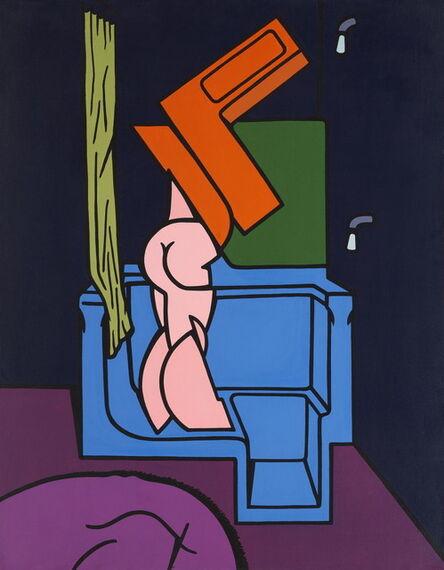 Valerio Adami, 'Interno con nudo e vasca da bagno', 1968