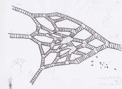 Vito Acconci, 'Sketch for a Bridge in Tasmania I', 2014