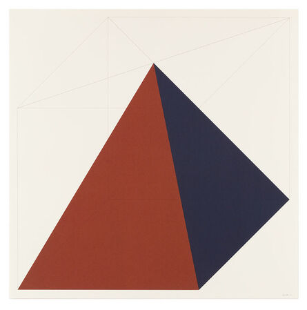 Sol LeWitt, 'Forms Derived from a Cube (Colors Superimposed) 2', 1991