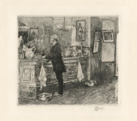 Childe Hassam, 'A New England Barroom.', 1917