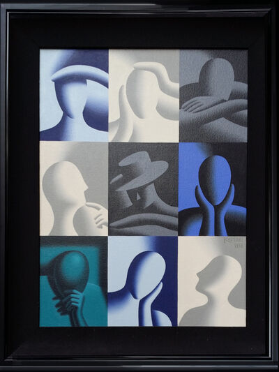 Mark Kostabi, 'Conversation Pieces (Deep Concentration)', 1998