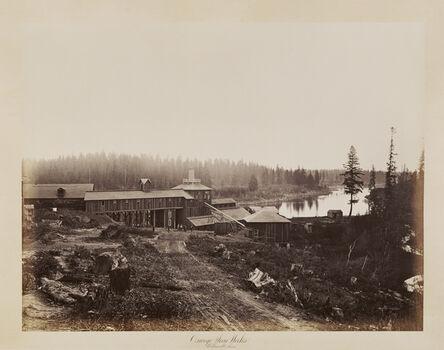 Carleton E. Watkins, 'Oswego Iron Works, Willamette River', 1867